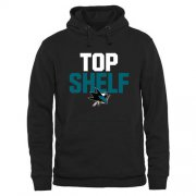 Wholesale Cheap San Jose Sharks Top Shelf Pullover Hoodie Black