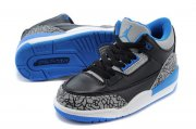 Wholesale Cheap Air Jordan 3 Kids Sport Blue Black/gray cement-Sport blue