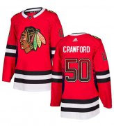 Wholesale Cheap Adidas Blackhawks #50 Corey Crawford Red Home Authentic Drift Fashion Stitched NHL Jersey
