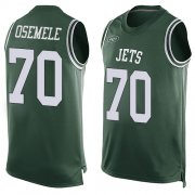 Wholesale Cheap Nike Jets #70 Kelechi Osemele Green Team Color Men's Stitched NFL Limited Tank Top Jersey