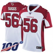 Wholesale Cheap Nike Cardinals #56 Terrell Suggs White Men's Stitched NFL 100th Season Vapor Limited Jersey