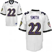 Wholesale Cheap Ravens #22 Jimmy Smith White Stitched NFL Jersey