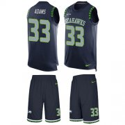 Wholesale Cheap Nike Seahawks #33 Jamal Adams Steel Blue Team Color Men's Stitched NFL Limited Tank Top Suit Jersey