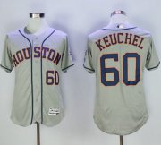 Wholesale Astros #60 Dallas Keuchel Grey Flexbase Authentic Collection Stitched Baseball Jersey