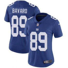 Wholesale Cheap Nike Giants #89 Mark Bavaro Royal Blue Team Color Women\'s Stitched NFL Vapor Untouchable Limited Jersey