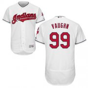 Wholesale Cheap Indians #99 Ricky Vaughn White Flexbase Authentic Collection Stitched MLB Jersey