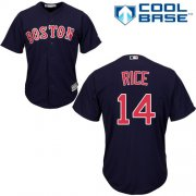 Wholesale Cheap Red Sox #14 Jim Rice Navy Blue Cool Base Stitched Youth MLB Jersey