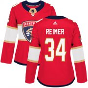 Wholesale Cheap Adidas Panthers #34 James Reimer Red Home Authentic Women's Stitched NHL Jersey