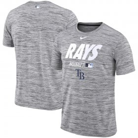 Wholesale Cheap Tampa Bay Rays Nike Authentic Collection Velocity Team Issue Performance T-Shirt Gray
