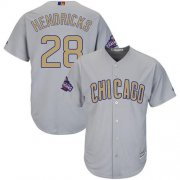 Wholesale Cheap Cubs #28 Kyle Hendricks Grey 2017 Gold Program Cool Base Stitched MLB Jersey