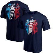 Wholesale Cheap Atlanta Braves #5 Freddie Freeman Majestic 2019 Spring Training Big & Tall Name & Number T-Shirt Navy