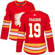 Wholesale Cheap Adidas Flames #19 Matthew Tkachuk Red Alternate Authentic Women's Stitched NHL Jersey