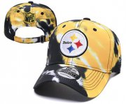 Wholesale Cheap Steelers Team Logo Yellow Black Peaked Adjustable Fashion Hat YD