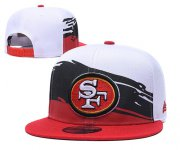 Wholesale Cheap 49ers Team Logo White Red Adjustable Hat GS