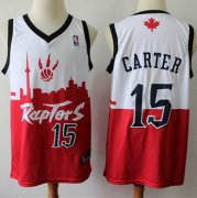 Wholesale Cheap Raptors #15 Vince Carter White Red Basketball Swingman City Edition Jersey