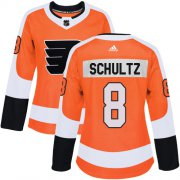 Wholesale Cheap Adidas Flyers #8 Dave Schultz Orange Home Authentic Women's Stitched NHL Jersey