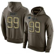 Wholesale Cheap NFL Men's Nike Carolina Panthers #99 Kawann Short Stitched Green Olive Salute To Service KO Performance Hoodie