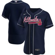 Wholesale Cheap Atlanta Braves Men's Nike Navy Alternate 2020 Authentic Official MLB Team Jersey