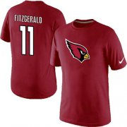 Wholesale Cheap Nike Arizona Cardinals #11 Larry Fitzgerald Name & Number NFL T-Shirt Red