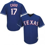 Wholesale Cheap Rangers #17 Shin-Soo Choo Blue Cool Base Stitched Youth MLB Jersey