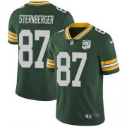 Wholesale Cheap Nike Packers #87 Jace Sternberger Green Team Color Men's 100th Season Stitched NFL Vapor Untouchable Limited Jersey