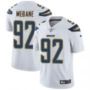 Wholesale Cheap Nike Chargers #92 Brandon Mebane White Men's Stitched NFL Vapor Untouchable Limited Jersey