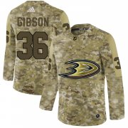 Wholesale Cheap Adidas Ducks #36 John Gibson Camo Authentic Stitched NHL Jersey