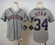 Wholesale Cheap Astros #34 Nolan Ryan Grey Cool Base Stitched Youth MLB Jersey