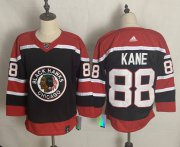 Wholesale Cheap Men's Chicago Blackhawks #88 Patrick Kane Black 2021 Retro Stitched NHL Jersey