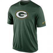 Wholesale Cheap Green Bay Packers Nike Legend Logo Essential 2 Performance T-Shirt Green