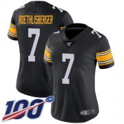 Wholesale Cheap Nike Steelers #7 Ben Roethlisberger Black Alternate Women's Stitched NFL 100th Season Vapor Limited Jersey