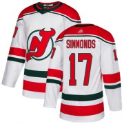 Wholesale Cheap Adidas Devils #17 Wayne Simmonds White Alternate Authentic Stitched NHL Jersey