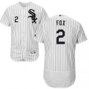 Wholesale Cheap White Sox #2 Nellie Fox White(Black Strip) Flexbase Authentic Collection Stitched MLB Jersey