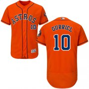 Wholesale Cheap Astros #10 Yuli Gurriel Orange Flexbase Authentic Collection Stitched MLB Jersey