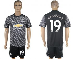 Wholesale Cheap Manchester United #19 Rashford Black Soccer Club Jersey