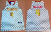 Wholesale Cheap Men's Atlanta Hawks #4 Paul Millsap Revolution 30 Swingman 2015-16 New White Jersey