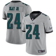 Wholesale Cheap Nike Eagles #24 Darius Slay Jr Silver Men's Stitched NFL Limited Inverted Legend Jersey