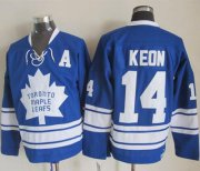 Wholesale Cheap Maple Leafs #14 Dave Keon Blue CCM Throwback Third Stitched NHL Jersey