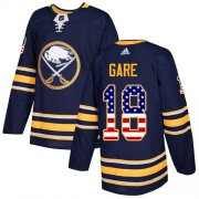Wholesale Cheap Adidas Sabres #18 Danny Gare Navy Blue Home Authentic USA Flag Stitched NHL Jersey