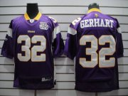 Wholesale Cheap Vikings #32 Toby Gerhart Purple Team 50TH Patch Stitched NFL Jersey