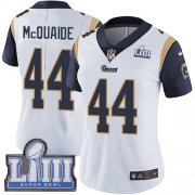 Wholesale Cheap Nike Rams #44 Jacob McQuaide White Super Bowl LIII Bound Women's Stitched NFL Vapor Untouchable Limited Jersey