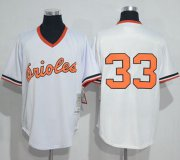 Wholesale Cheap Mitchell And Ness 1985 Orioles #33 Eddie Murray White Throwback Stitched MLB Jersey