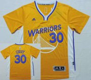 Wholesale Cheap Men's Golden State Warriors #30 Stephen Curry Revolution 30 Swingman 2014 New Yellow Short-Sleeved Jersey