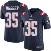 Wholesale Cheap Nike Patriots #35 Kyle Dugger Navy Blue Youth Stitched NFL Limited Rush Jersey