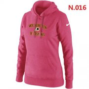 Wholesale Cheap Women's Nike Washington Redskins Heart & Soul Pullover Hoodie Pink