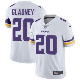 Wholesale Cheap Nike Vikings #20 Jeff Gladney White Youth Stitched NFL Vapor Untouchable Limited Jersey