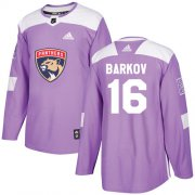Wholesale Cheap Adidas Panthers #16 Aleksander Barkov Purple Authentic Fights Cancer Stitched Youth NHL Jersey