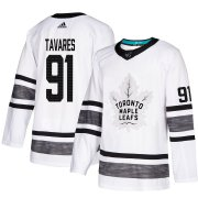 Wholesale Cheap Adidas Maple Leafs #91 John Tavares White Authentic 2019 All-Star Stitched Youth NHL Jersey
