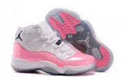 Wholesale Cheap Cheap Jordan 11 Womens Girls Shoes Pink/white-black