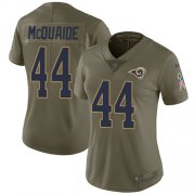 Wholesale Cheap Nike Rams #44 Jacob McQuaide Olive Women's Stitched NFL Limited 2017 Salute to Service Jersey